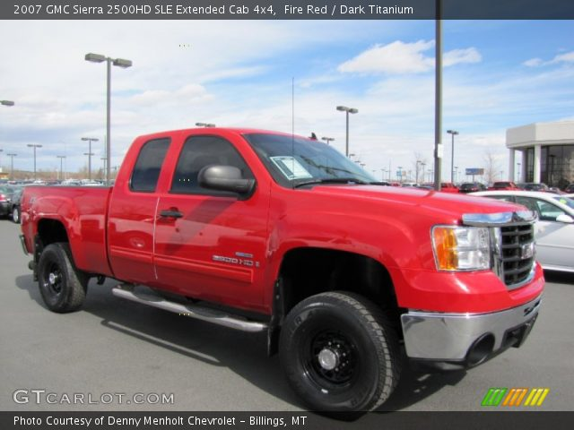 fire red 2007 gmc sierra 2500hd sle extended cab 4x4. Black Bedroom Furniture Sets. Home Design Ideas