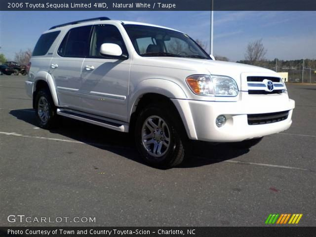 natural white 2006 toyota sequoia limited 4wd taupe interior vehicle. Black Bedroom Furniture Sets. Home Design Ideas