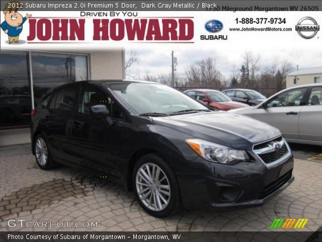 2012 Subaru Impreza 2.0i Premium 5 Door in Dark Gray Metallic