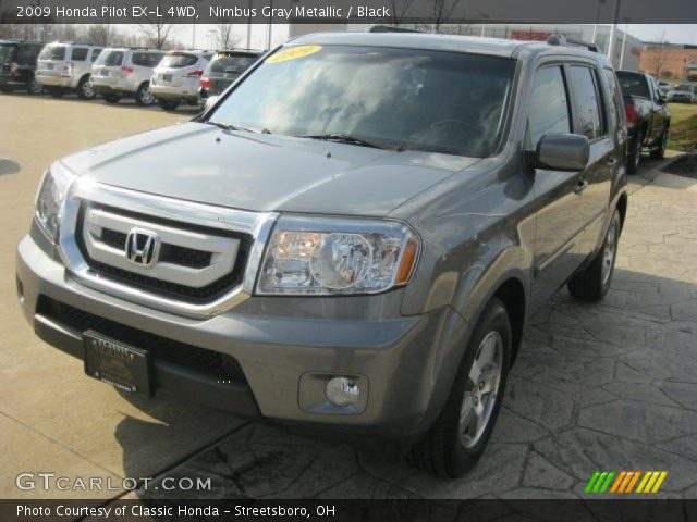 Nimbus Gray Metallic 2009 Honda Pilot Ex L 4wd Black Interior Vehicle
