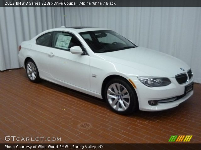 alpine white 2012 bmw 3 series 328i xdrive coupe black interior vehicle. Black Bedroom Furniture Sets. Home Design Ideas