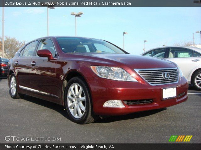 noble spinel red mica 2009 lexus ls 460 l awd cashmere. Black Bedroom Furniture Sets. Home Design Ideas