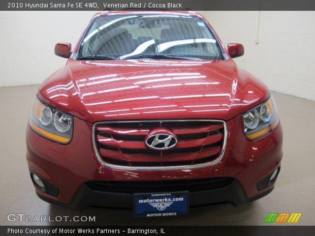 venetian red 2010 hyundai santa fe se 4wd cocoa black interior vehicle. Black Bedroom Furniture Sets. Home Design Ideas