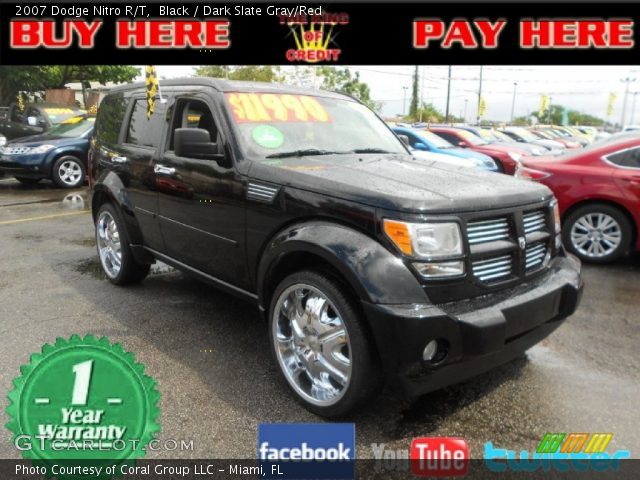 black 2007 dodge nitro r t dark slate gray red. Black Bedroom Furniture Sets. Home Design Ideas