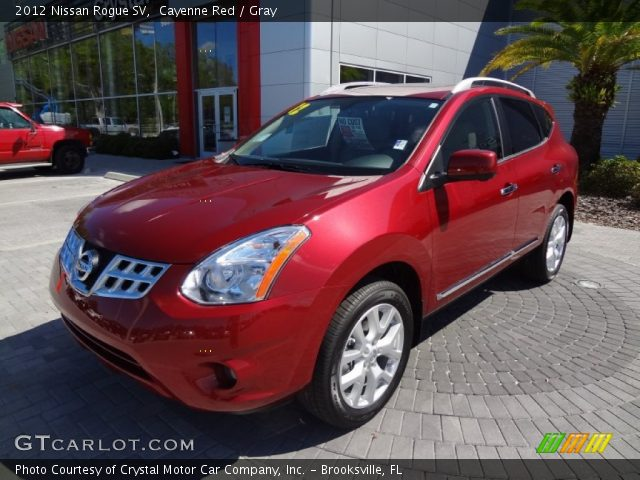 Cayenne red 2012 nissan rogue sv gray interior - 2012 nissan rogue exterior colors ...