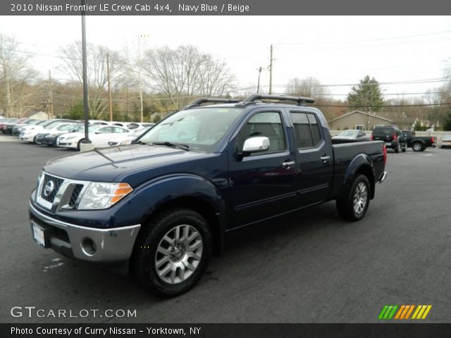 navy blue 2010 nissan frontier le crew cab 4x4 beige interior vehicle. Black Bedroom Furniture Sets. Home Design Ideas