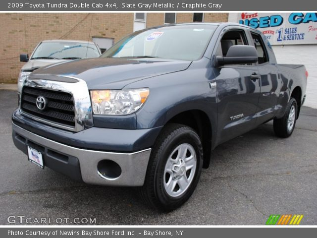 slate gray metallic 2009 toyota tundra double cab 4x4 graphite gray interior. Black Bedroom Furniture Sets. Home Design Ideas