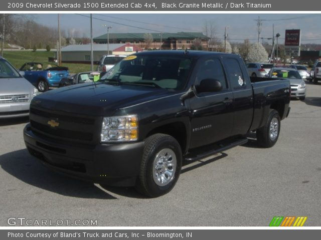 black granite metallic 2009 chevrolet silverado 1500 extended cab 4x4 dark titanium interior. Black Bedroom Furniture Sets. Home Design Ideas
