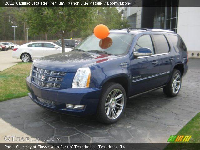 2012 Cadillac Escalade Premium in Xenon Blue Metallic