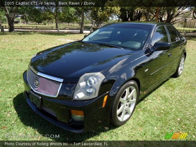 black raven 2005 cadillac cts v series ebony interior vehicle archive. Black Bedroom Furniture Sets. Home Design Ideas