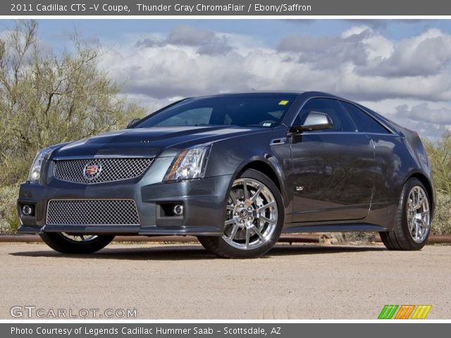 Thunder Gray Chromaflair 2011 Cadillac Cts V Coupe