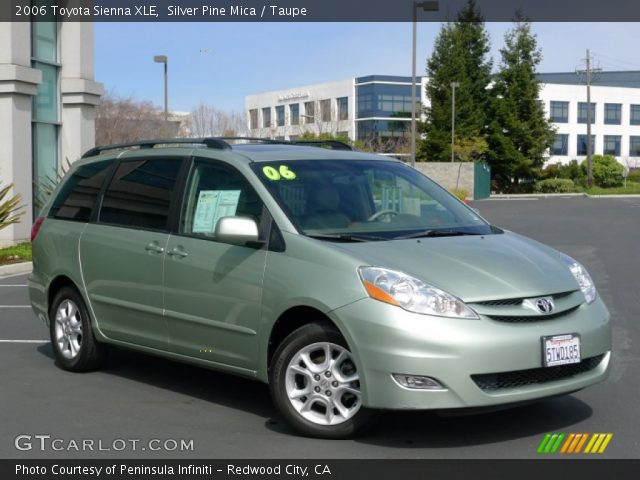 silver pine mica 2006 toyota sienna xle taupe interior. Black Bedroom Furniture Sets. Home Design Ideas