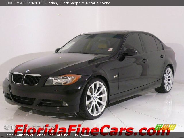 black sapphire metallic 2006 bmw 3 series 325i sedan. Black Bedroom Furniture Sets. Home Design Ideas