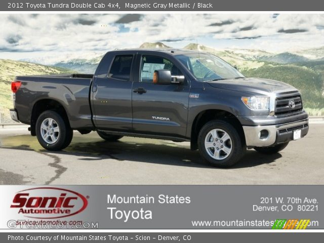 magnetic gray metallic 2012 toyota tundra double cab 4x4 black interior. Black Bedroom Furniture Sets. Home Design Ideas