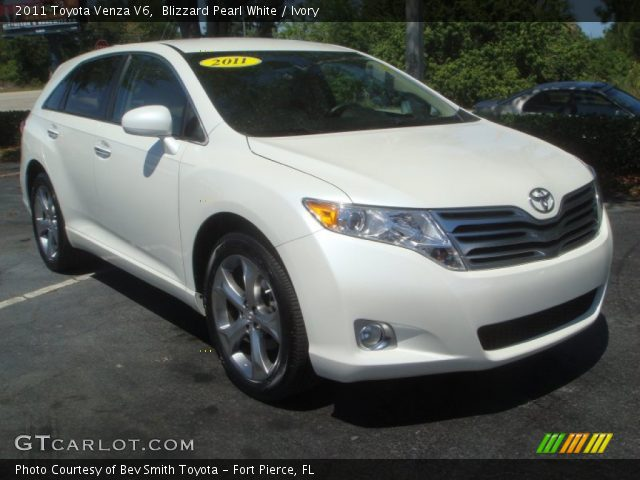 blizzard pearl white 2011 toyota venza v6 ivory. Black Bedroom Furniture Sets. Home Design Ideas
