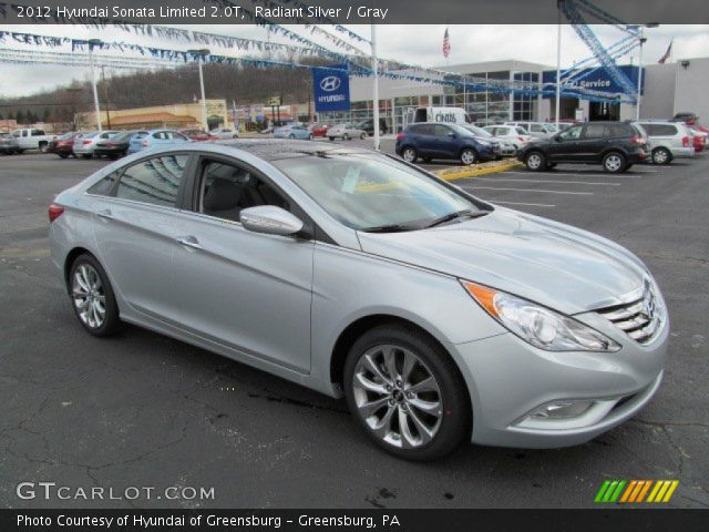 radiant silver 2012 hyundai sonata limited 2 0t gray interior vehicle. Black Bedroom Furniture Sets. Home Design Ideas