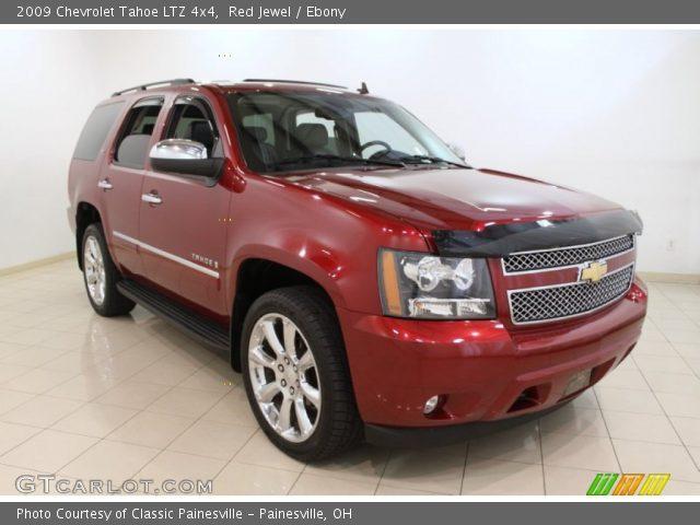 Red Jewel 2009 Chevrolet Tahoe Ltz 4x4 Ebony Interior