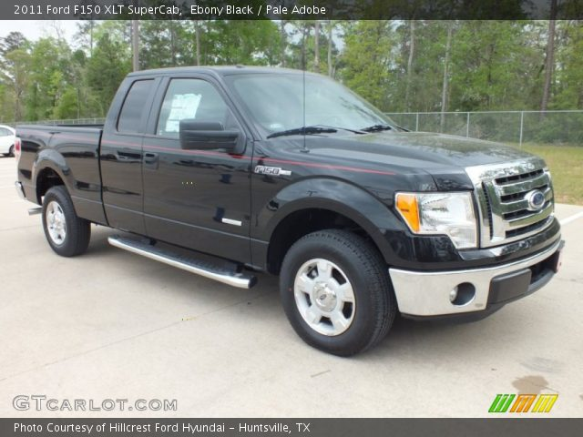ebony black 2011 ford f150 xlt supercab pale adobe interior vehicle archive. Black Bedroom Furniture Sets. Home Design Ideas
