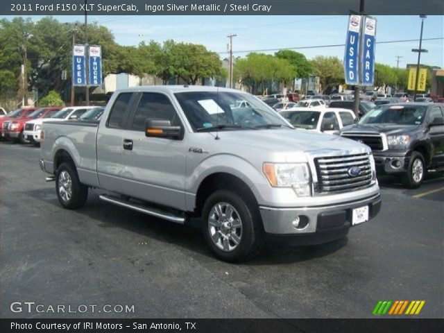 ingot silver metallic 2011 ford f150 xlt supercab steel gray interior. Black Bedroom Furniture Sets. Home Design Ideas