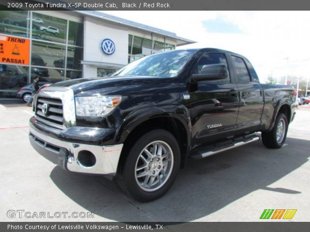 black 2009 toyota tundra x sp double cab red rock interior vehicle archive. Black Bedroom Furniture Sets. Home Design Ideas