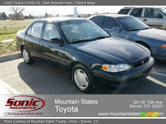 dark emerald pearl 1999 toyota corolla ce pebble beige. Black Bedroom Furniture Sets. Home Design Ideas