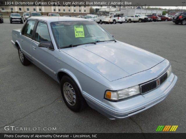 1994 Oldsmobile Cutlass Ciera S in Light Adriatic Blue Metallic