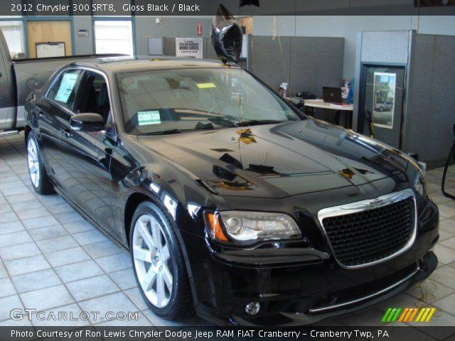 Gloss Black 2012 Chrysler 300 Srt8 Black Interior Vehicle Archive 62596232