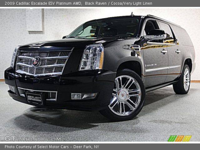 2009 Cadillac Escalade ESV Platinum AWD in Black Raven