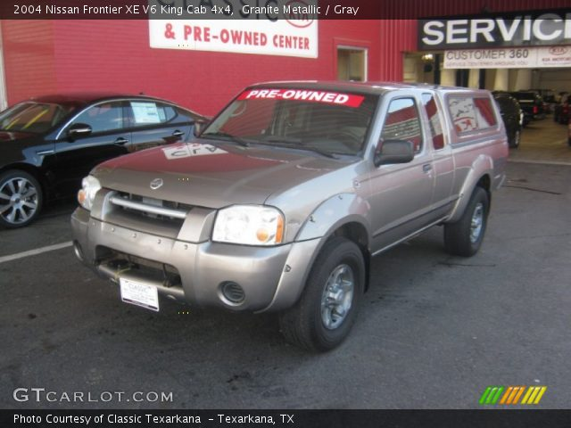 granite metallic 2004 nissan frontier xe v6 king cab 4x4 gray interior. Black Bedroom Furniture Sets. Home Design Ideas