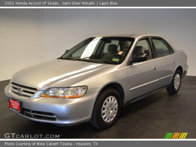2002 Honda Accord VP Sedan in Satin Silver Metallic