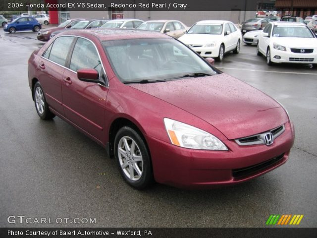 redondo red pearl 2004 honda accord ex v6 sedan gray interior vehicle. Black Bedroom Furniture Sets. Home Design Ideas