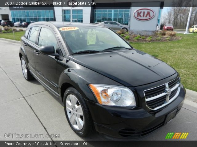 black 2007 dodge caliber sxt pastel slate gray. Black Bedroom Furniture Sets. Home Design Ideas