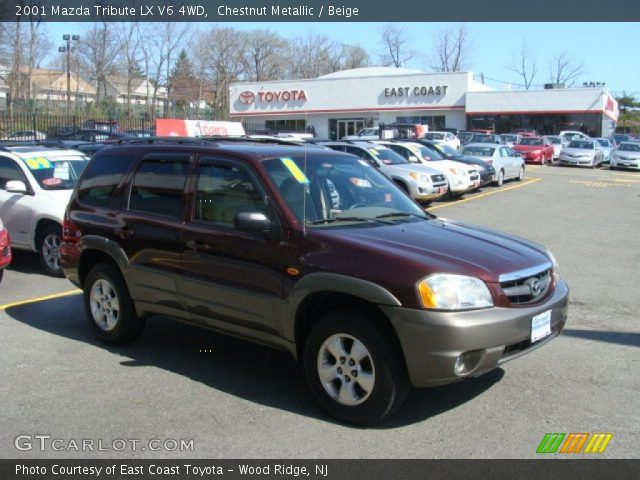chestnut metallic 2001 mazda tribute lx v6 4wd beige interior vehicle. Black Bedroom Furniture Sets. Home Design Ideas