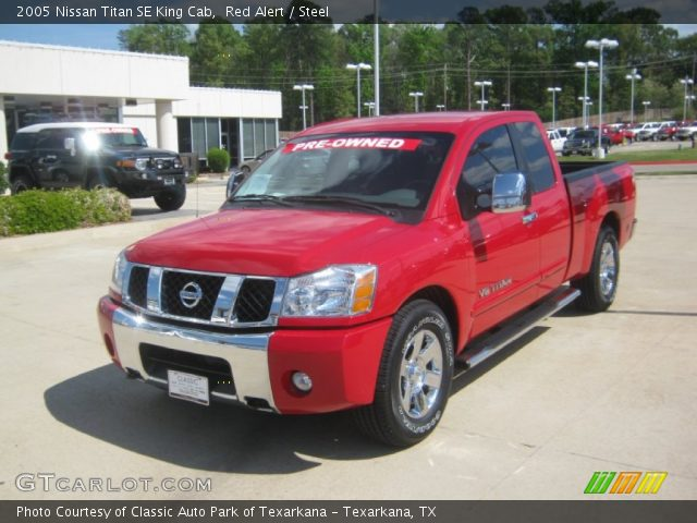 red alert 2005 nissan titan se king cab steel interior vehicle archive. Black Bedroom Furniture Sets. Home Design Ideas