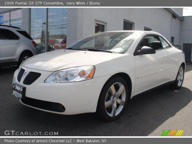 ivory white 2006 pontiac g6 gtp convertible ebony. Black Bedroom Furniture Sets. Home Design Ideas
