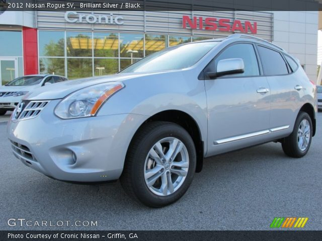 Brilliant Silver 2012 Nissan Rogue Sv Black Interior