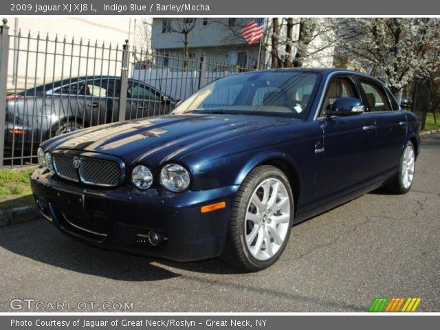 indigo blue 2009 jaguar xj xj8 l barley mocha interior vehicle archive. Black Bedroom Furniture Sets. Home Design Ideas