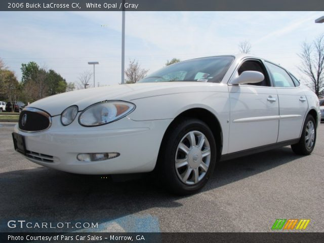 white opal 2006 buick lacrosse cx gray interior. Black Bedroom Furniture Sets. Home Design Ideas