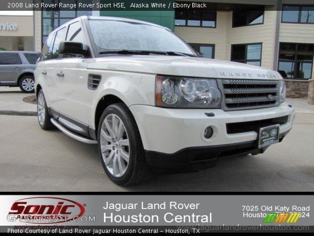 Alaska White 2008 Land Rover Range Rover Sport Hse Ebony Black Interior