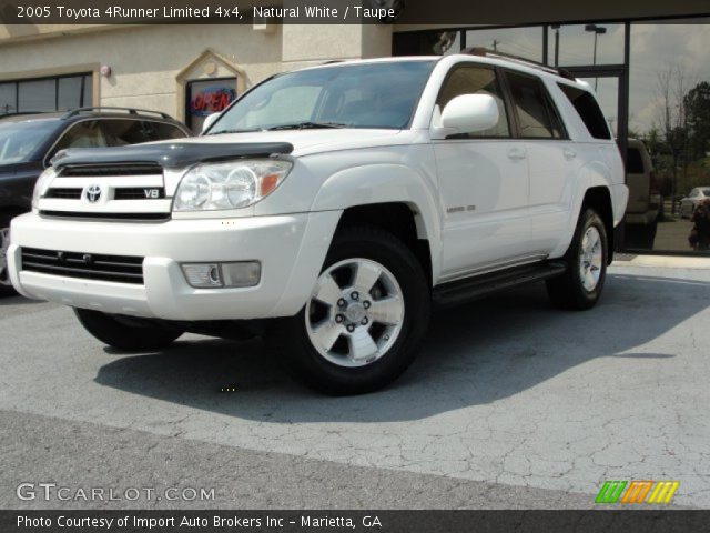 Natural White 2005 Toyota 4runner Limited 4x4 Taupe Interior Vehicle
