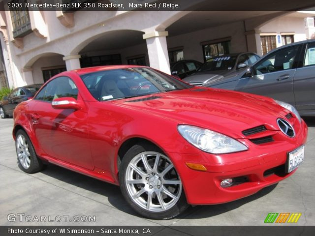 mars red 2005 mercedes benz slk 350 roadster beige. Black Bedroom Furniture Sets. Home Design Ideas
