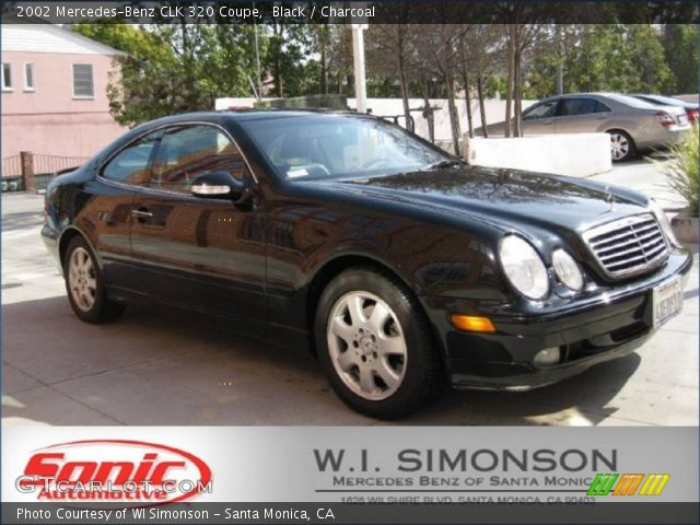 Black 2002 Mercedes Benz Clk 320 Coupe Charcoal