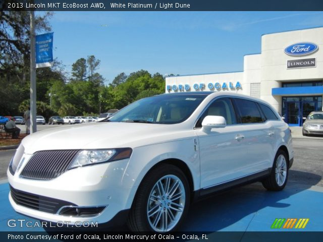 2013 Lincoln MKT EcoBoost AWD in White Platinum
