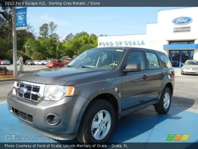 sterling gray metallic 2012 ford escape xls stone interior vehicle archive. Black Bedroom Furniture Sets. Home Design Ideas
