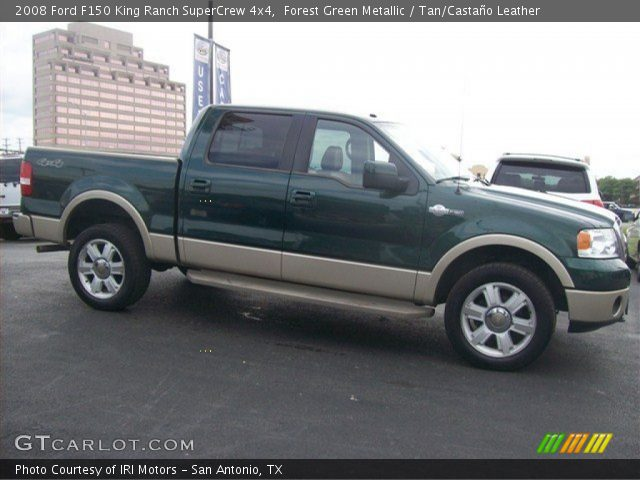 forest green metallic 2008 ford f150 king ranch supercrew 4x4 tan casta o leather interior. Black Bedroom Furniture Sets. Home Design Ideas