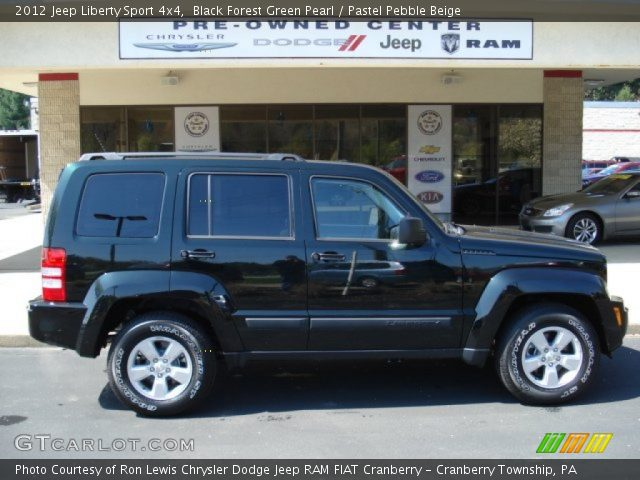 black forest green pearl 2012 jeep liberty sport 4x4. Black Bedroom Furniture Sets. Home Design Ideas
