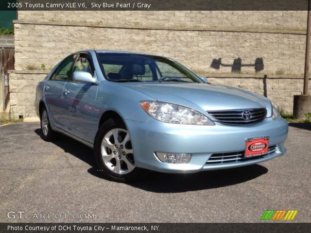 sky blue pearl 2005 toyota camry xle v6 gray interior vehicle archive 63101341. Black Bedroom Furniture Sets. Home Design Ideas