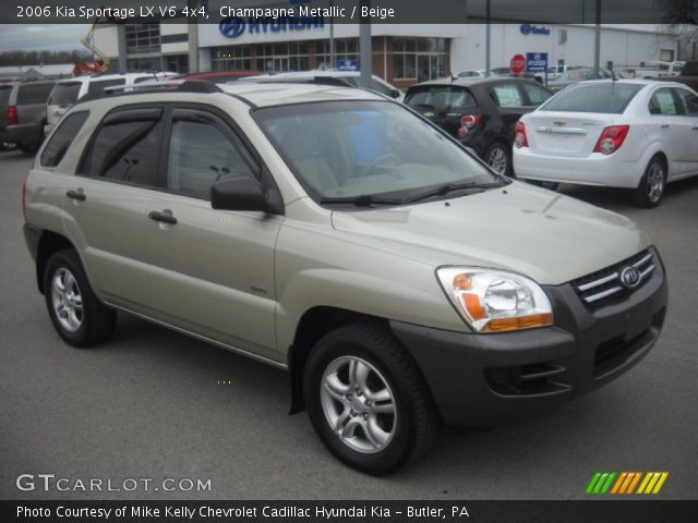 champagne metallic 2006 kia sportage lx v6 4x4 beige. Black Bedroom Furniture Sets. Home Design Ideas