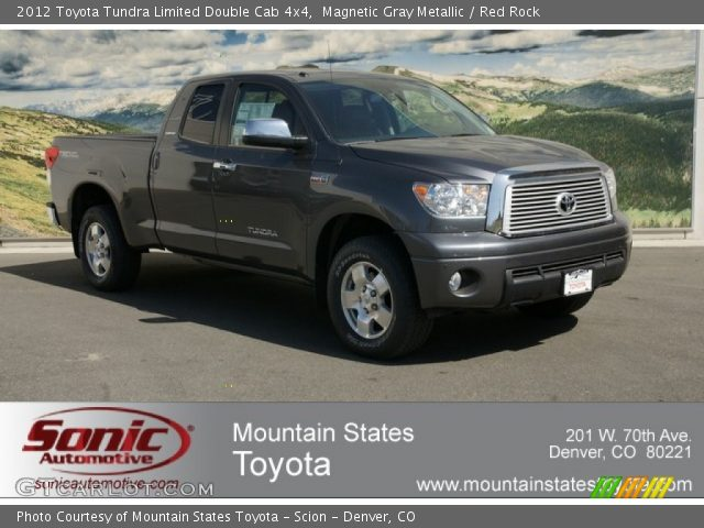 magnetic gray metallic 2012 toyota tundra limited double cab 4x4 red rock interior. Black Bedroom Furniture Sets. Home Design Ideas