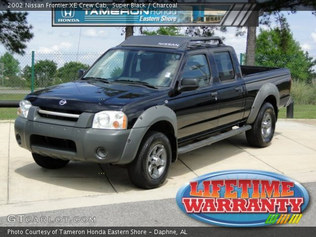 Super Black 2002 Nissan Frontier Xe Crew Cab Charcoal Interior Vehicle